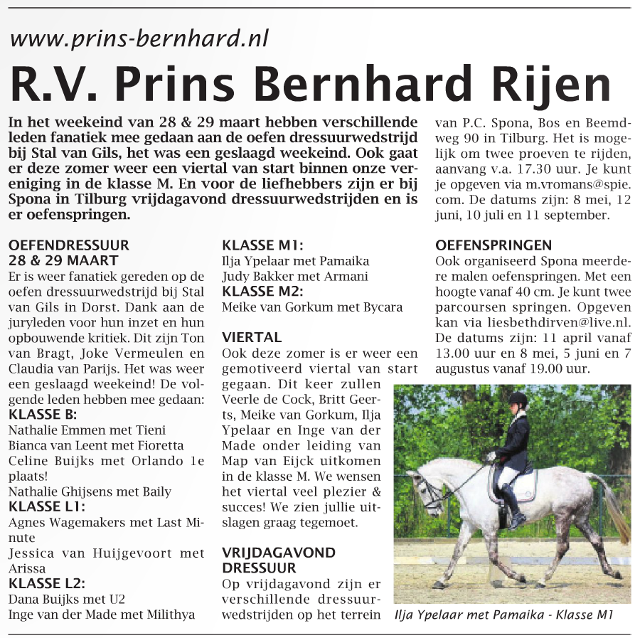 Artikel weekblad week 15 - 2015